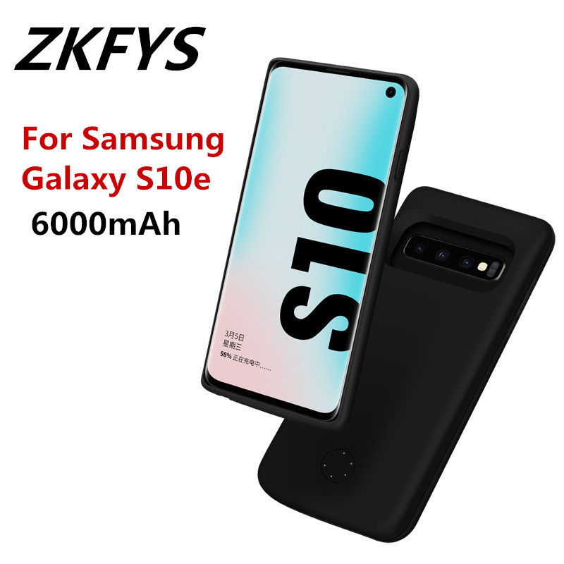 ZKFYS 5000mAh Power Box Backup Back Clip Fast Battery Charging Case For Samsung Galaxy S10e Charger Cover
