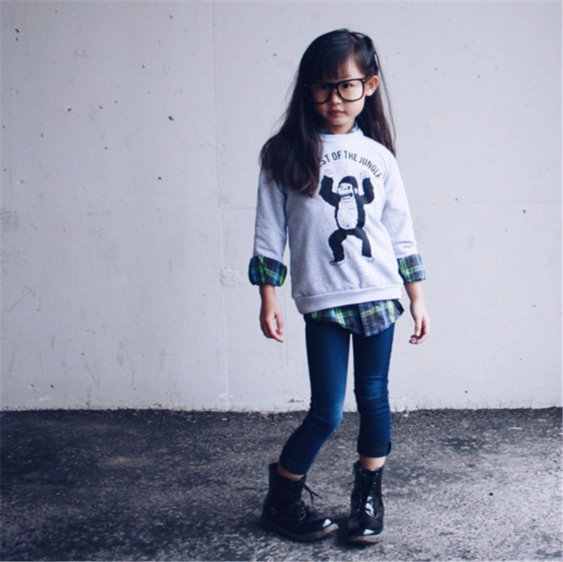 For Boys Girls Sweater T-Shirts Clothes Autumn Winter New Panda Bear Printing Tops Kids Sweatershirt  Tees Clothing Full Sleeve 3