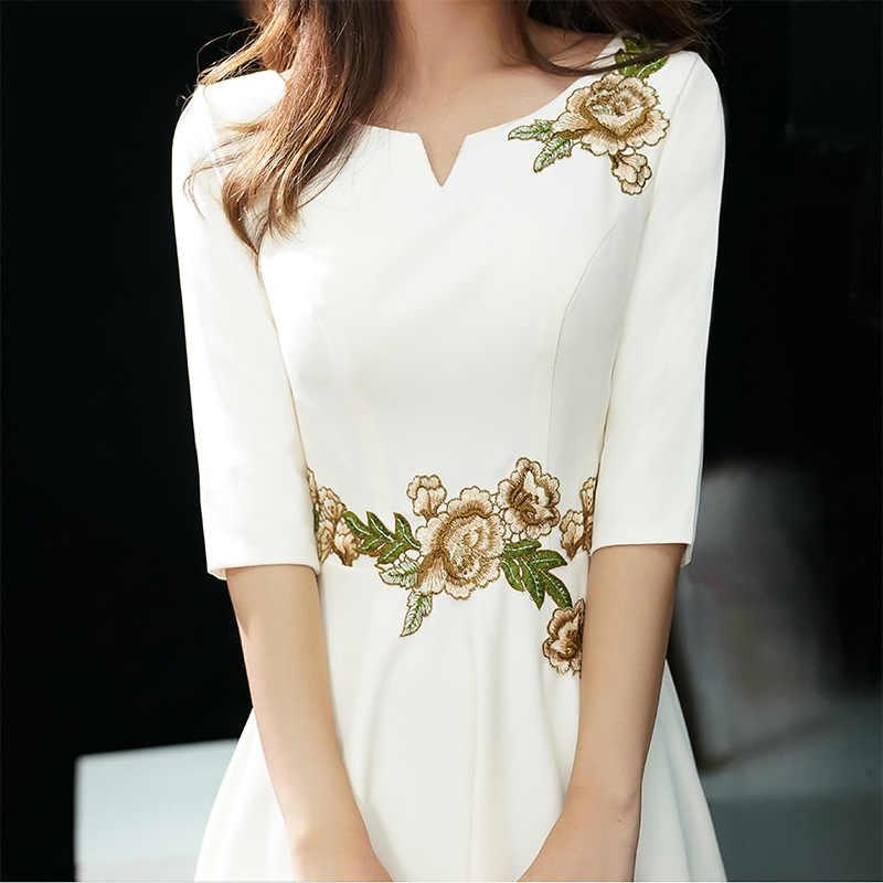 Lady Party Cheongsam Oriental femmes col en v robe Style chinois élégant Long Qipao Sexy Slim robes de mariée robes S-XXXL