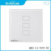 UK standard BroadLink 433Mhz Smart Home Wall Light Switch, 3 gang, WiFi control from smart phone, single live wire connection