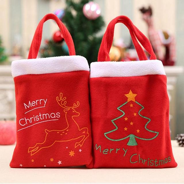 Christmas Gift Bag Red Christmas Atmosphere Candy Bags for Kids ...