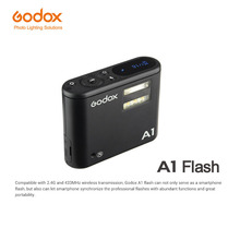 Godox A1 Flash Trigger Smartphone Flash System 2.4G Wireless Flash Constant Led Light with Battery for iPhone 6s 7 plus