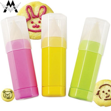 MeiJiaG Pastry Tools Baking Food Painting Pen 3 Piece Set DIY Cookies Mold Cake Bread Making