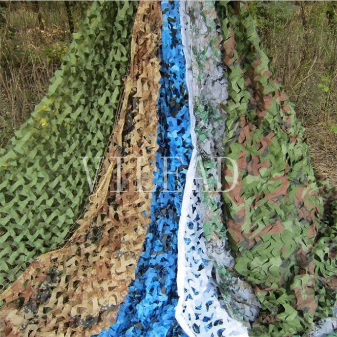 VILEAD 9 Colors 3.5M*5M Camouflage Netting Reusable Camo Net for Hunting Jungle Shade CF Game Party Decoration Outsaide Shade vilead 7m desert camouflage net camo net for beach shade canopy tarp camping canopy tent party decoration bar decoration