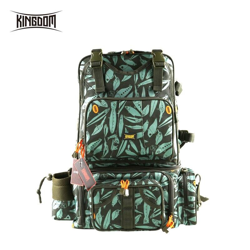 Kingdom Fishing Bags 1000D Waterproof Nylon Large Capacity Detachable Multifunctional 1610g 43x24x53cm fishing bag Model LYB