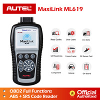 AUTEL MaxiLink ML619 ABS SRS Diagnostics Scanner OBD2 Code Reader Diagnostic Scan Tool OBD Autoscanner Auto Airbag Diagnosis