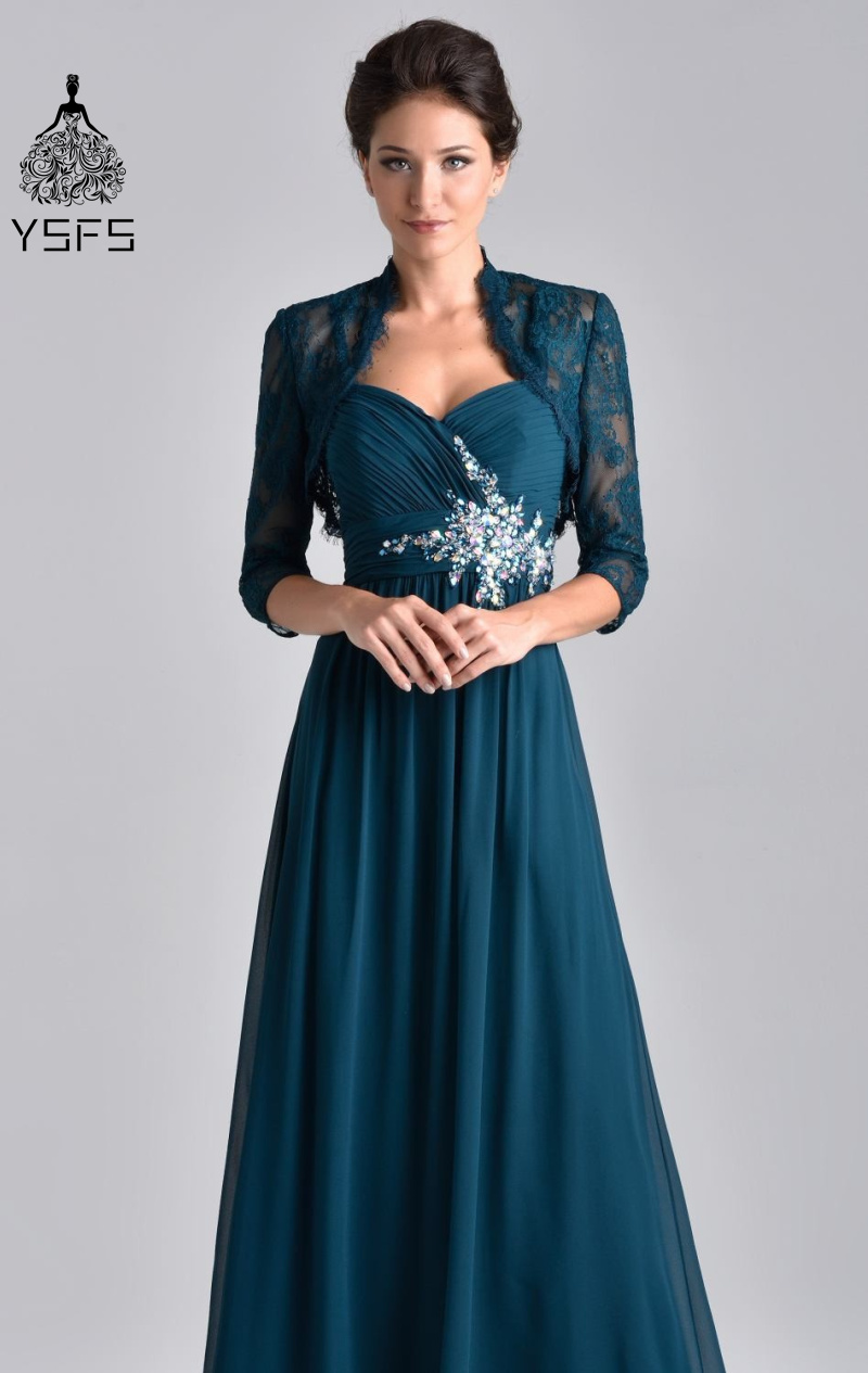 Elegant Lace Long Sleeve Sheath Navy Blue Mother of the ...
