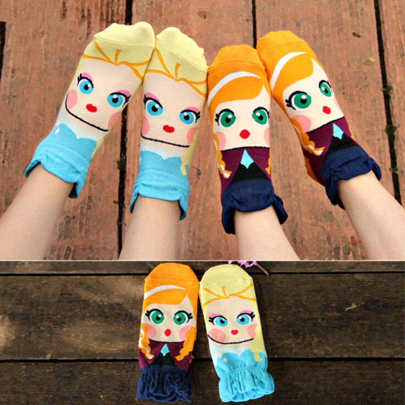 ZHBSLWT New Wholesale Cute Cartoon Bowknot Candy Color Cotton Socks In Winter Woman Girl
