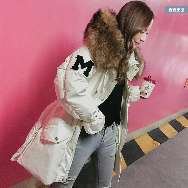2016 new hot winter Thicken Warm woman Cotton Padded Coat Jacket Parkas Outerwear Hooded Fur collar Slim Mid long Plus size XL xm 05 7 0 resistive screen win ce 6 0 gps navigator w europe map tf built in 4gb flash memory