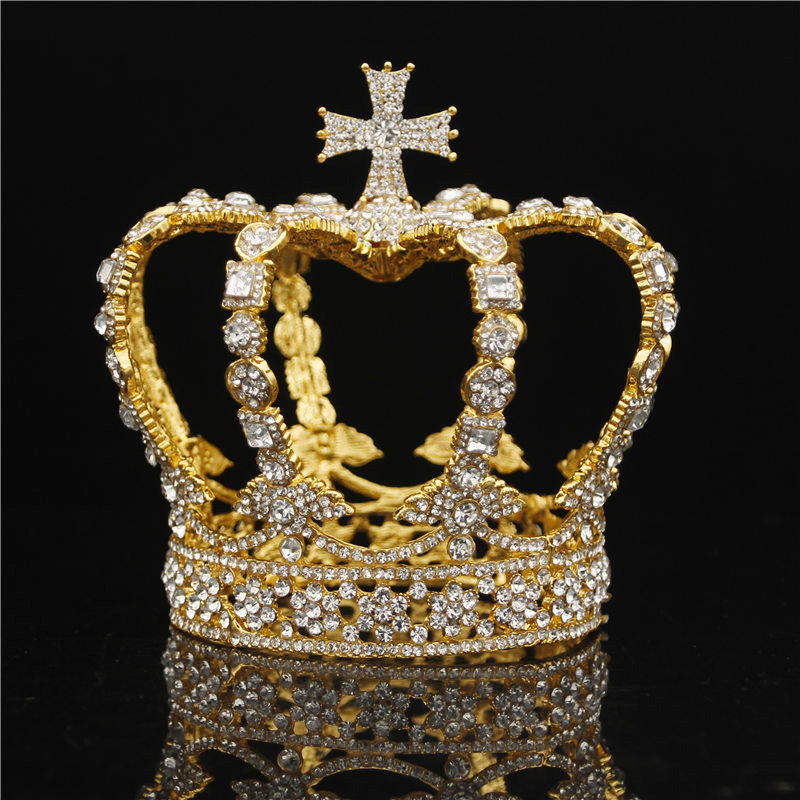 Quality Top Queen King Crown Bridal Tiaras and Crowns Cross Diadem Bride Headpiece Prom Wedding Hair Jewelry OrnamentQuality Top Queen King Crown Bridal Tiaras and Crowns Cross Diadem Bride Headpiece Prom Wedding Hair Jewelry Ornament