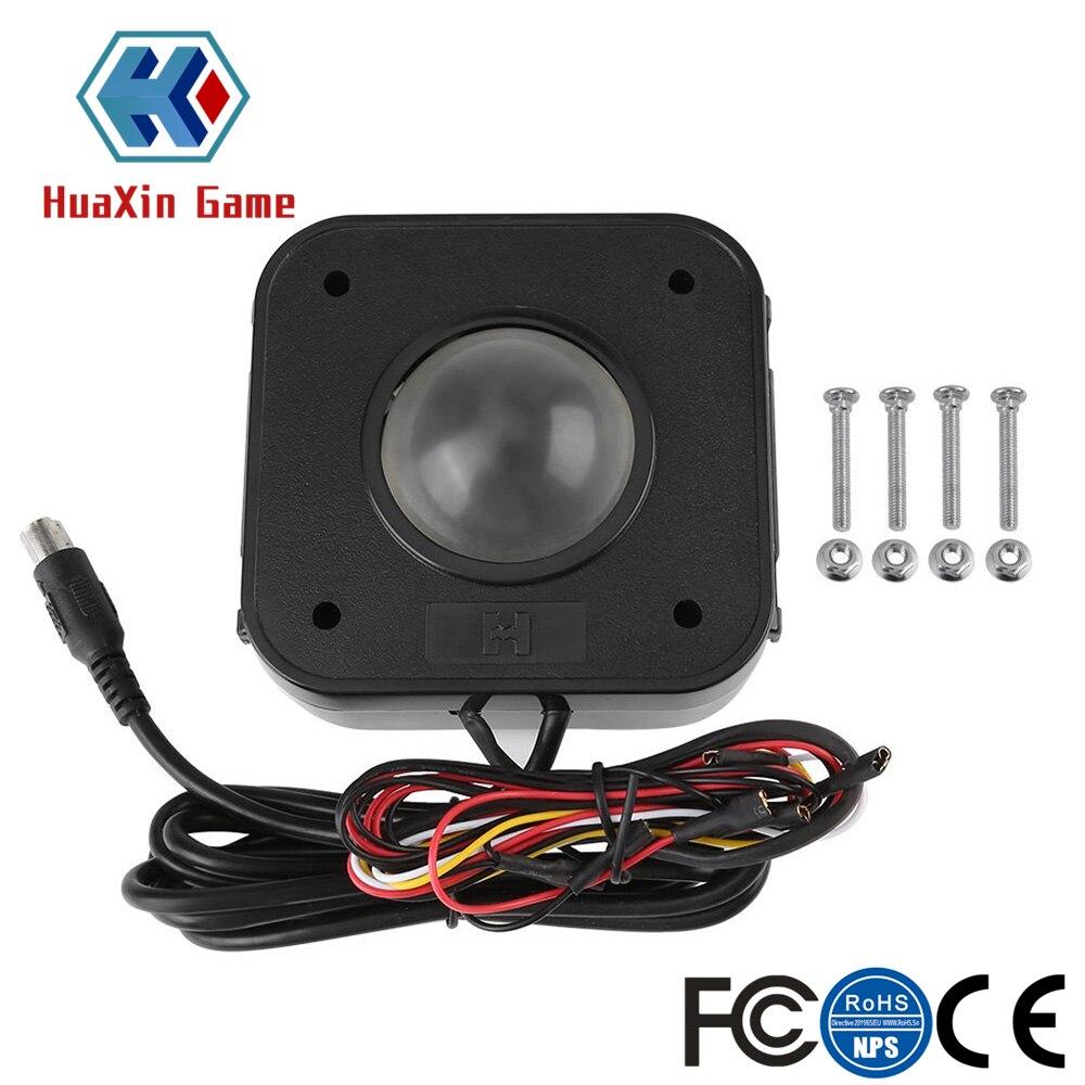Подсвеченная 4,5 см круглая светодиодная трекбол мышь PS/2 PCB разъем для аркадных игр