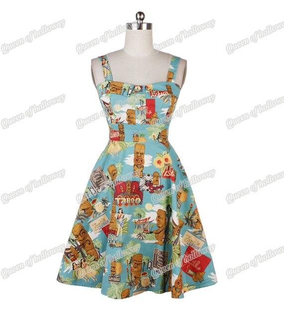 2ed41263589 0174-1950s pinup Hepburn Audrey retro vintage rockabilly Classy halter dress  in Tiki island