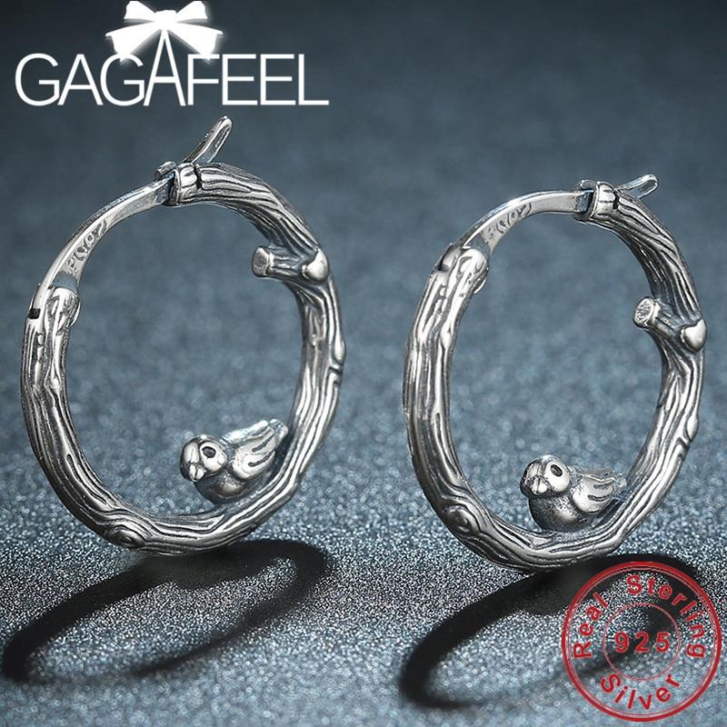 GAGAFEEL S925 Sterling Silber Ohrringe Schöne Vögel Haken Ohrringe für Frauen Damen Beste Geburtstag Geschenk