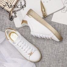 Frauen Müßiggänger Mikrofaser Plateauschuhe Frau Creepers Herbst Wohnungen Casual Lace-Up Gold Silber Weiß Frauen Brogue Schuhe