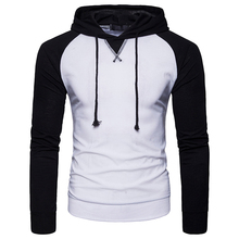 New Arrivals Hooded Men 2018 Brand Male Long Sleeve Hoodie Sweatshirt Fashion hip-hop Raglan sleeved Pullover Hoodies EU size