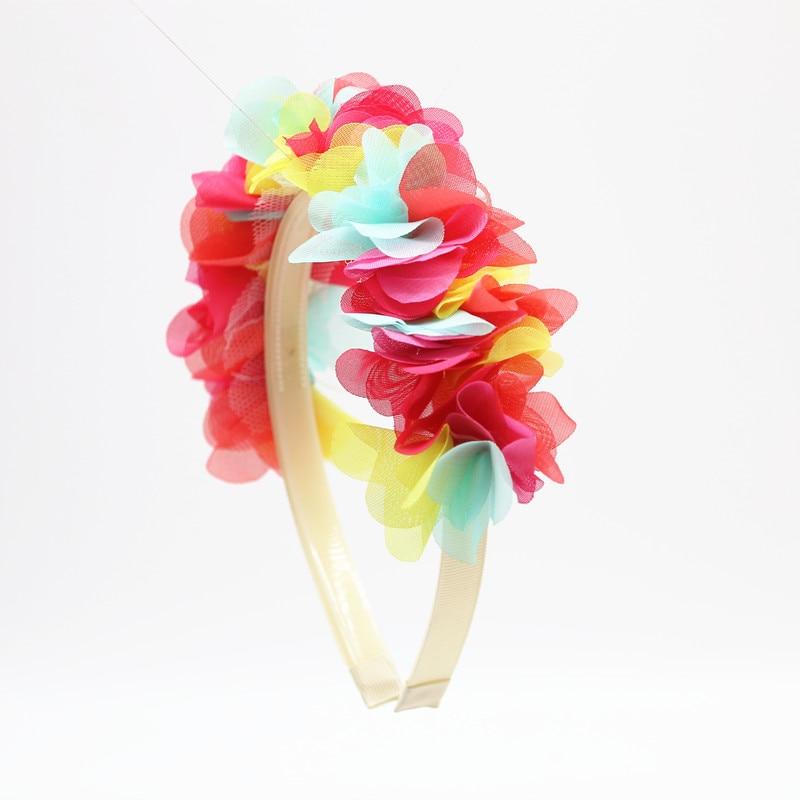 2018 nueva moda flor de seda de gasa alrededor de la cabeza niños - Accesorios para la ropa - foto 4