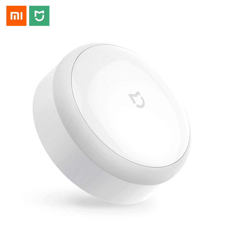 Original Xiaomi MIJIA LED Corridor Night Light Infrared Remote Control Body Motion Sensor Smart Home Night Lamp Mi Yeelight Bulb xiaomi mijia yeelight portable led makeup mirror with light dimmable and smart motion sensor night light for xiaomi smart home