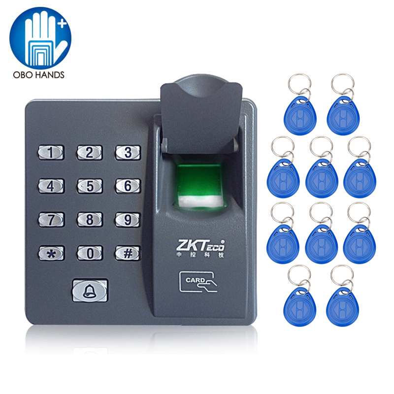 X6 Mini Biometric Fingerprint Access Control Keypad Finger Scanner for Door Lock With 10 Frequency RFID 125KHz keyfobs Key Tags diysecur magnetic lock door lock 125khz rfid password keypad access control system security kit for home office