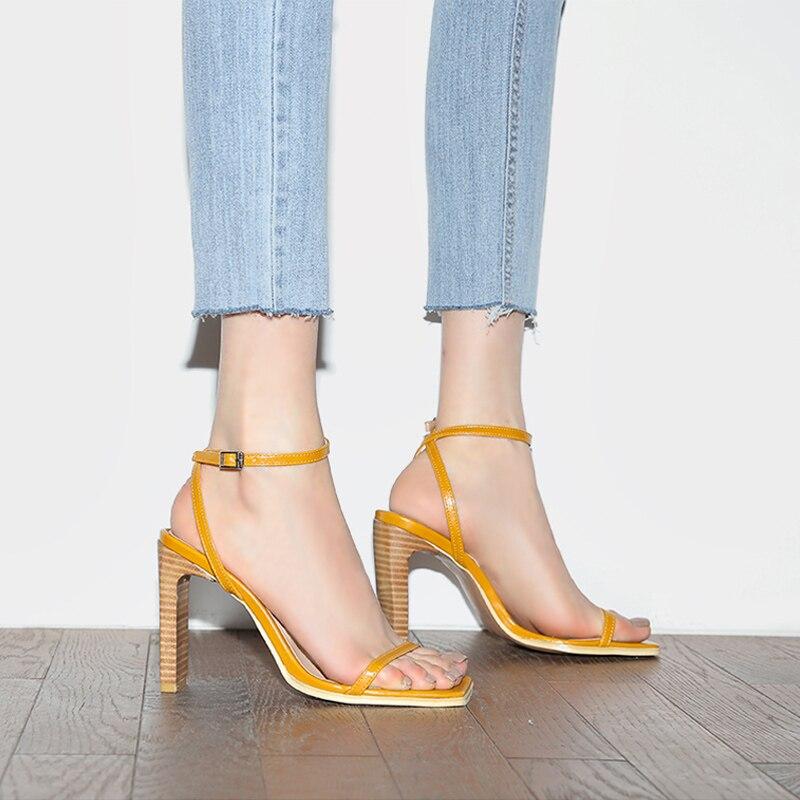 Chic Hauts 8cm Robe 10 Cuir Carrés Super 10 5cm De Talons Offre 8cm Bande Chaussures 5cm Femmes Femme Étroite En Sandales Pompes qnZwvRU6Xx