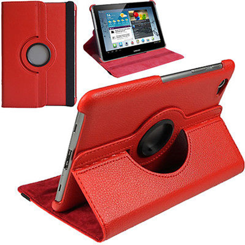 PU Leather 360 Rotation Stand Case Cover For Samsung Galaxy Tab 2 10.1 inch P5100 P5110 7500 P7510 cases tablet bags
