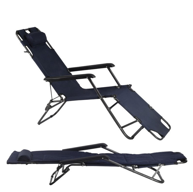 Simple Modern Portable Folding Sun Loungers Single Sofa Bed Office Noon Break Nap Leisure Bed Comfortable Lying Chair цена