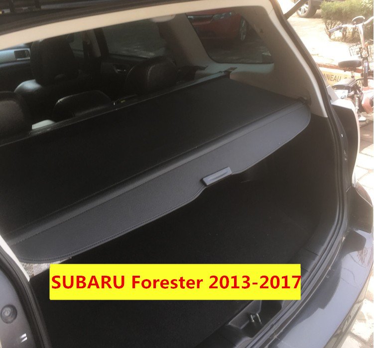 Car Rear Trunk Security Shield Cargo Cover For SUBARU Forester 2013.2014.2015.2016.2017 Electric Switch Tail Door car rear trunk security shield cargo cover for volkswagen vw tiguan 2016 2017 2018 high qualit black beige auto accessories