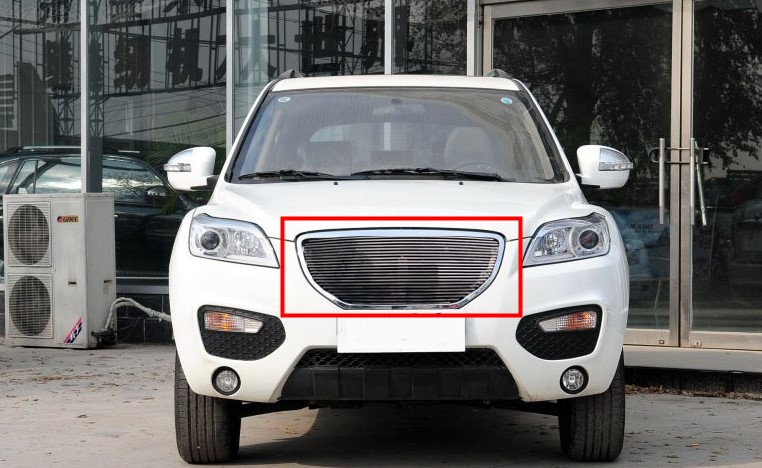 For Lifan X60  Car front bumper Mesh Grille Around Trim Racing Grills 1PC abs chrome front grille around trim racing grills trim for toyota highlander 2012 2013 2014 car styling 1pc