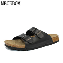 2016 Casual Sandals Fashion cork slippers Summer Woman beach slippers flip slip-resistant trend of Sandals zapatos plus size 46