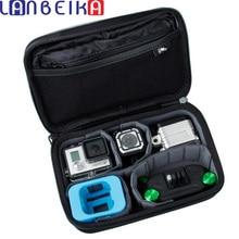 Lanbeika для GoPro Hero4 сеанса Casey сумка для хранения коллекцией чехол для Hero 5 5S 4 4S 3 + 3 SJCAM SJ4000 SJ5000 M20 SJ6 SJ7