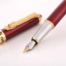 Jinhao1000 만년필 드래곤 럭셔리 잉크 펜 고품질 전기 도금 caneta tinteiro stylo 깃털 금속 펜 팁 사무실 선물