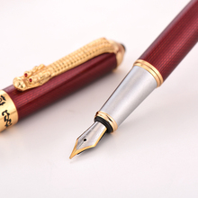 قلم حبر من Jinhao1000 أقلام حبر فاخرة للتنين طلاء كهربائي كانيتا تينيرو ستايلو بلوم قلم معدني طرف هدية للمكتب