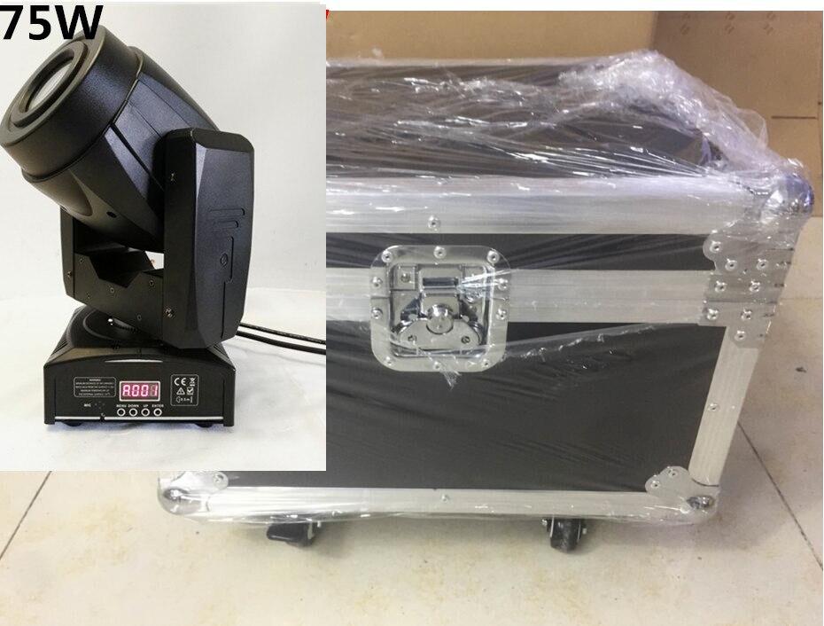 2pcs/lot with flight case 75W Moving Head 3 Face PrisS pot Stage Lighting DMX Channel Hi-Quality Hot Sales Prism