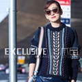 Повседневная Свитер Женщин Высокого Качества Новый Длинным Рукавом 2016 Осень Зима Теплая Мода Topshop Лоскутное Свитер