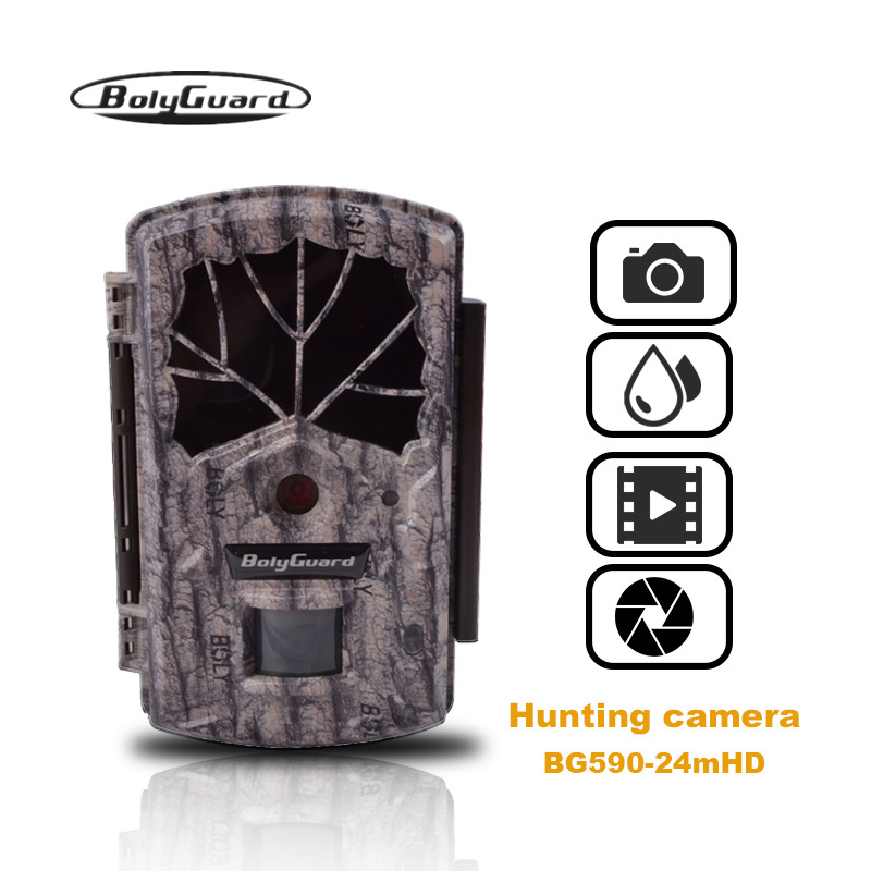 Bolyguard Hunting Trial camera 24MP 1080P night vision Black IR camera chasse 100ft Wildlife Camera PhotoTrap