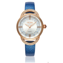 2016 New Brand Luxury Women Watch Fashion Leather Watches Ladies Clock Quality Japan 2035 Quartz Movement With Blue Band 6 Color