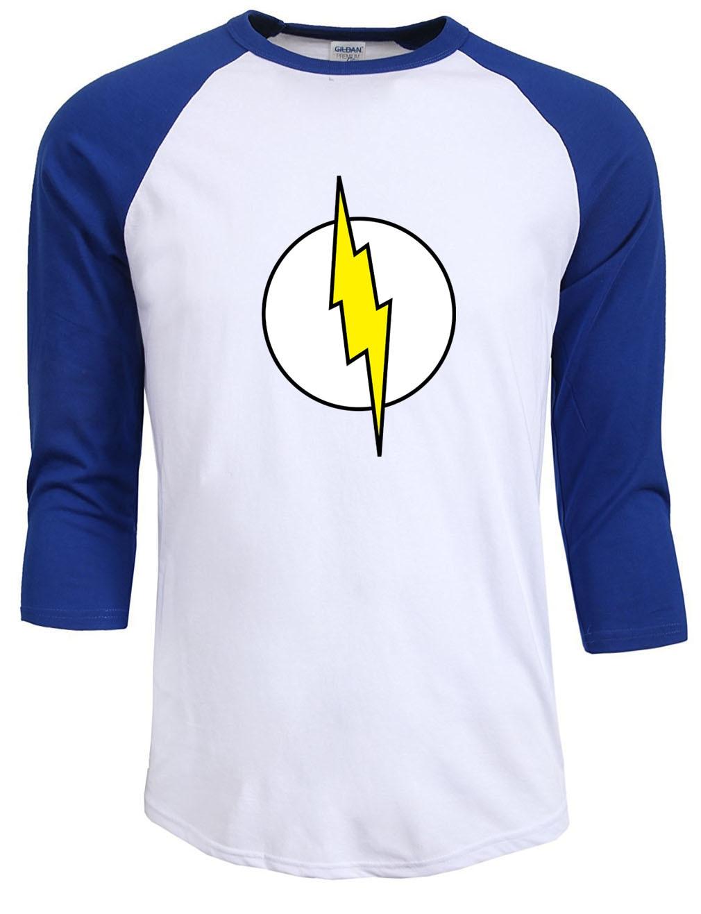 homme streetwear T-särk raglan varrukas Sheldon Cooper super kangelane roheline latern flash cosplay t särgid mehed geek mees tshirt