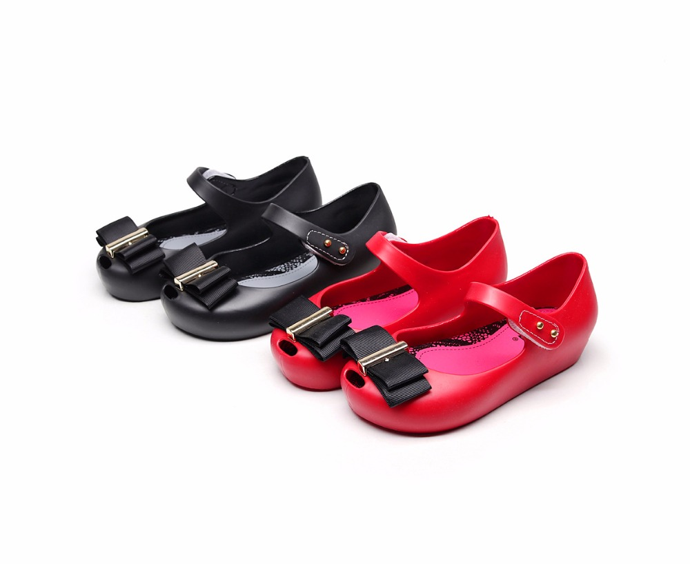 Mini Melissa Children Fashion Spring Autumn Summer Kids Casual Bows Fish Mouse Cute Princess Clogs Mules Girl Jelly Shoes Sandal