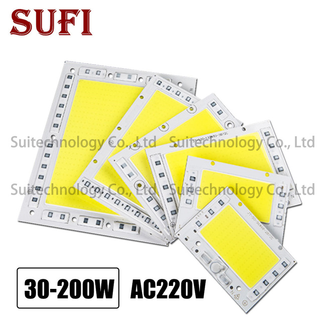 5pcs LED pcb floodlight AC220V Aluminum lamp plate 30W 50W 100W 150W 200W led Lighting Source Panel for outdoor lamp Floodlight