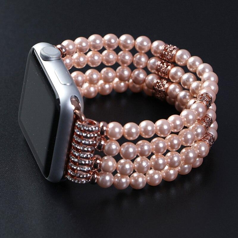 Mode handgjorda elastiska stretch faux pärla natursten armband - Tillbehör klockor - Foto 2