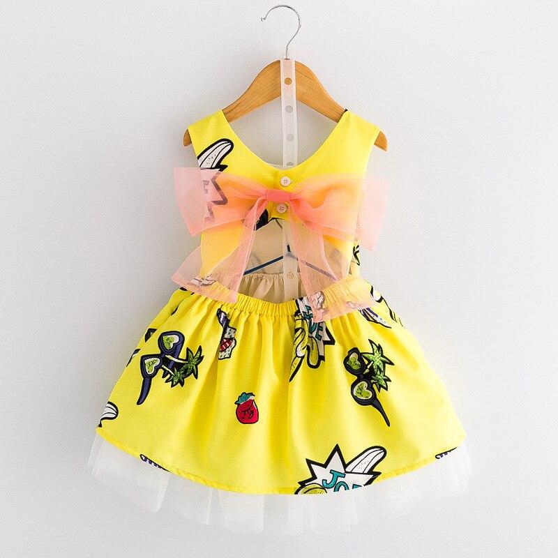 1a32aeb12e Sukienka Dla Dziewczynek Letnie Sukienki Moda Druku Ubrania Dla Dziewczyny  Sun Dress Balu Wieczór Suknie Księżniczka Party Dzieci Fantazyjne Dzieci w  ...