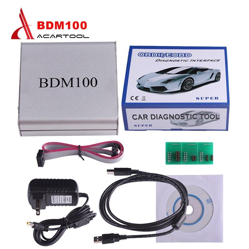 Ventes chaudes USB BDM 100 ÉCUS V1255 Programmeur BDM100 Code Lecteur Remappage Chip Tuning Outil De Diagnostic