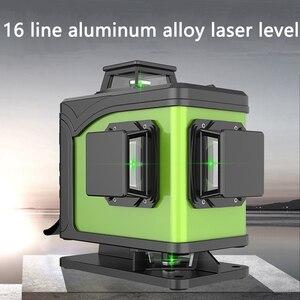 Image 3 - Professional 16Line 4D laser level 360 pionowy i poziomy poziom laserowy samopoziomujący krzyż linia 4D Laser Level z zewnątrz