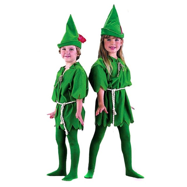 international childrens day gift kids halloween cospaly costomes child green robin peter pan fairy costume clothes