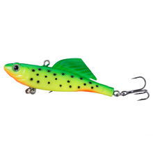 New 2017 Vantage Balance Vib Ice Fishing Lure Wobber Pesca Silicone Artificial Bait 65mm 16.5g Lead Fish Soft Fish Treble Hook