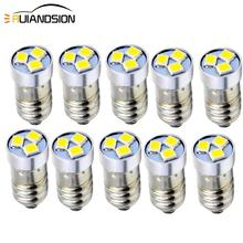 10pcs 3V 6V 12v DC 3smd 3030 E10 Base LED Upgrade Bulb Replacement for Headlamps Lanterns Flashlights Torch Conversion Bulbs