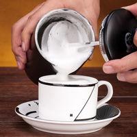 Double Stainless Steel Mini Portable Manual Milk Foaming Machine Milk Pull Flower Milk Foam Maker Milk Foam Maker