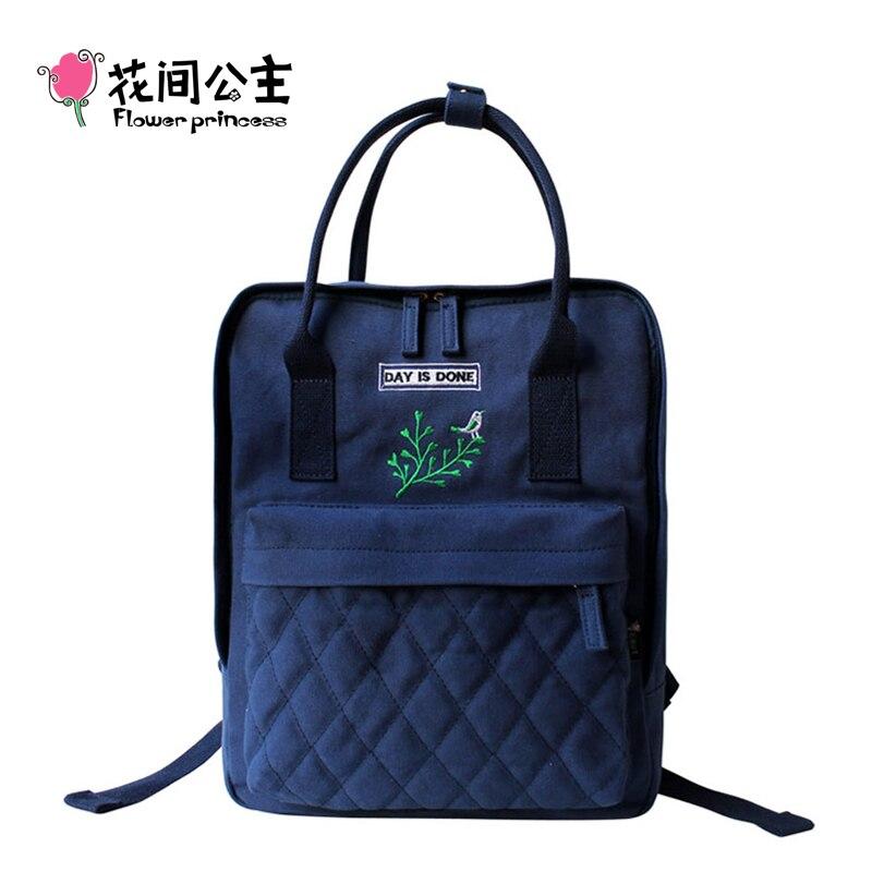 Цветок принцесса бренд холст рюкзак Для женщин топ-ручка сумки для путешествий для девочек-подростков школьная сумка элегантный дизайн ...
