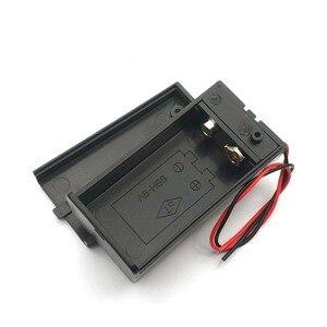 Image 2 - Pojemnik na pudełko baterii 9V z drut ołowiany obudowa przełącznika ON/OFF