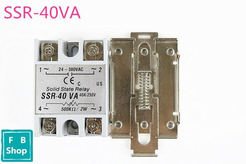 цена на AC-AC 40A 80-280VAC 24-380VAC SSR-40AA SSR-40DA SSR-40DA-H SSR-40VA Gray Solid State Relay DIN Rail Mount