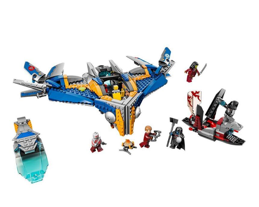 Bela 10251marvel avengers super heroes Guardians Of The Galaxy The Milano The Abilisk Rescue Spaceship Building Block Bricks Toy